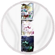 Abstract Fusion 213 Round Beach Towel
