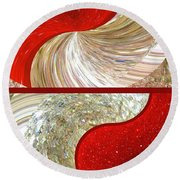Abstract Fusion 218 Round Beach Towel
