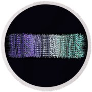 Abstract Fusion 219 Round Beach Towel