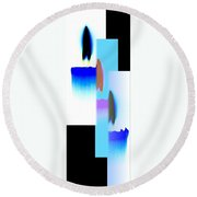 Abstract Fusion 220 Round Beach Towel by Will Borden