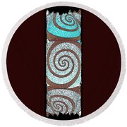 Abstract Fusion 231 Round Beach Towel by Will Borden
