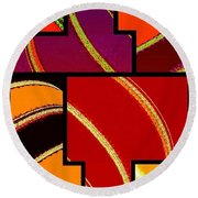 Abstract Fusion 232 Round Beach Towel