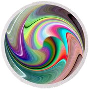 Abstract Fusion 241 Round Beach Towel
