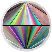 Abstract Fusion 242 Round Beach Towel