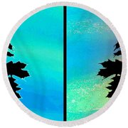 Abstract Fusion 243 Round Beach Towel
