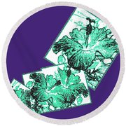 Abstract Fusion 244 Round Beach Towel