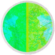 Abstract Fusion 249 Round Beach Towel