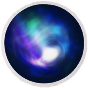 Abstract Galaxy Round Beach Towel
