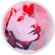 Abstract Garbo Round Beach Towel