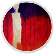 Abstract Ghost Figure No. 1 Round Beach Towel