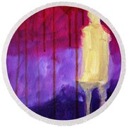 Abstract Ghost Figure No. 3 Round Beach Towel
