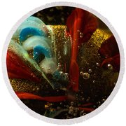 Abstract Glass Round Beach Towel