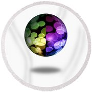 Abstract Globe Round Beach Towel