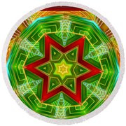 Abstract Glories Round Beach Towel