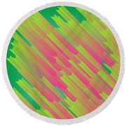 Abstract Glowing Structures Round Beach Towel