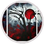 Abstract Gothic Art Original Landscape Painting Imagine By Madart Round Beach Towel