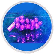 Abstract Grapes Round Beach Towel