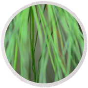 Abstract Green Pine Round Beach Towel
