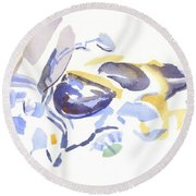 Abstract Motorcycle Round Beach Towel
