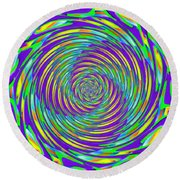 Abstract Hypnotic Round Beach Towel by Kenny Francis