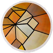 Abstract Impossible Warm Figure Round Beach Towel