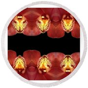 Nature In Abstract Orchid Square Round Beach Towel