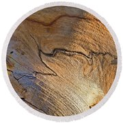 Abstract In Old Wood Round Beach Towel