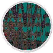Abstract Iv Round Beach Towel