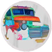 Abstract Jimmy Round Beach Towel