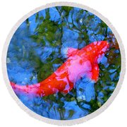 Abstract Koi 4 Round Beach Towel