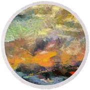 Abstract Landscape II Round Beach Towel