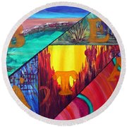 Abstract Landscapes Round Beach Towel