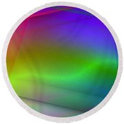 Abstract Light Round Beach Towel