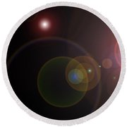 Abstract Lights Round Beach Towel
