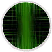 Abstract Lines 1 Round Beach Towel
