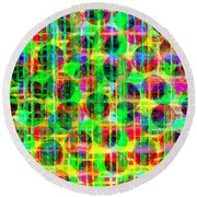 Abstract Lines 16 Round Beach Towel