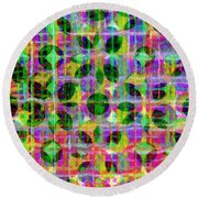 Abstract Lines 17 Round Beach Towel