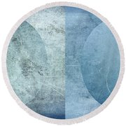 Abstract Metal 2 Round Beach Towel