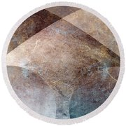 Abstract Metal Round Beach Towel