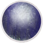 Abstract  Moonlight Round Beach Towel