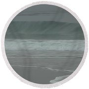 Abstract Motion Round Beach Towel