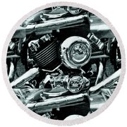 Abstract Motor Bike - Doc Braham - All Rights Reserved Round Beach Towel