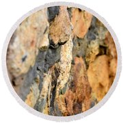 Abstract Natural Stone Round Beach Towel