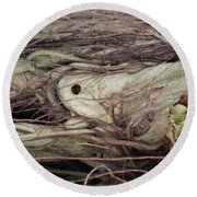Abstract Nature 12 Round Beach Towel