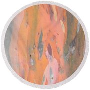 Abstract Nature 0 Round Beach Towel