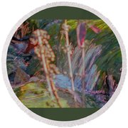 Abstract Nature 9 Round Beach Towel