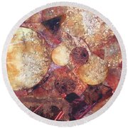 Abstract Naturescape Round Beach Towel
