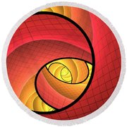 Abstract Network Round Beach Towel