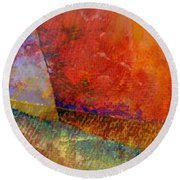 Abstract No. 1 Round Beach Towel