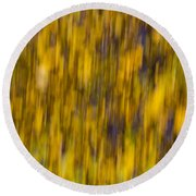 Abstract Of Autumn Gold Round Beach Towel
